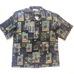 Tommy Bahama Button Down Short Sleeve Palm Leaves
